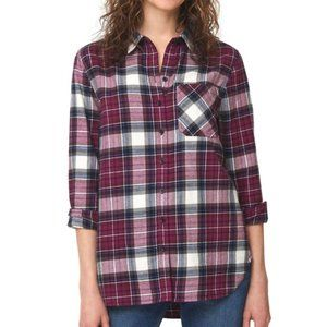 BEACHLUNCHLOUNGE Scout Flannel Button Down Top L